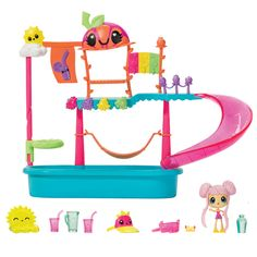 Kawaii Crush Waterpark Playset Kawaii Crush, Minnie Mouse Toys, Mermaid Tails For Kids, Wow World, Party Pops, Bitty Baby, Cute Toys, Toy Boxes, Baby Dolls
