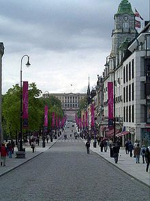 Karl Johans gate is the main street of the city of Oslo, Norway.