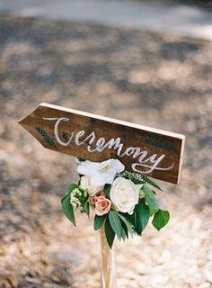 Love this rustic wooden wedding ceremony sign, vintage rustic wedding decor, DIY Wedding Ideas