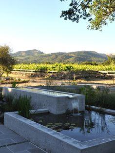 Glen Ellen water feature in California Wine Country by Huetti Landscape Architecture