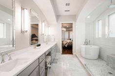 Luxury bathroom design & remodel firm in the dallas area Bathroom Remodel Cost, Master Bath Remodel, Bathroom Renovations, Bathroom Design Luxury, Bathroom Interior, Luxury Bathrooms, Bad Styling, Bathroom Floor Plans, Art Deco