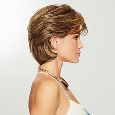 Medium Hair Styles, Curly Hair Styles, Gabor Wigs, Short Hair With Layers, Medium Short Layered Hair, Short Hair For Women, Short Hair Model, Short Bobs, Medium Curly