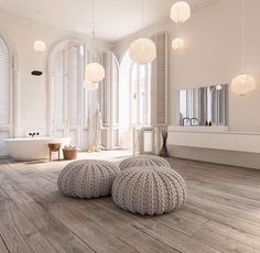 Bathroom Inspiration - we bring you bright ideas for how to design your living room, bedroom, bathroom and every other room in your house. Scandinavian Bathroom Design Ideas, Scandinavian Interior, Modern Interior Design, Scandinavian Style, Luxury Interior, Luxury Decor, Interior Architecture, Bad Inspiration, Bathroom Inspiration