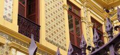 Palacete Pinho - detalhe da fachada. Cidade Velha. Belém/PA.