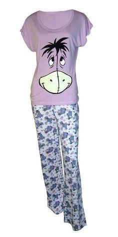 Ladies Disney Eeyore Short Sleeve Pyjamas PJ's Size 8/10 NEW in Clothes, Shoes & Accessories, Women's Clothing, Lingerie & Nightwear | eBay