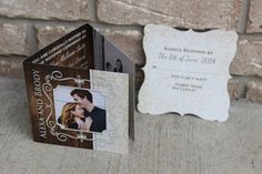 Rustic PURE COUNTRY LOVIN Trifold Wedding by LiveBrightDesigns, $2.99