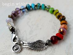 Rainbow Angel Wing B