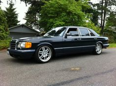 Lowered 420sel H&R no spacers - Mercedes-Benz Forum
