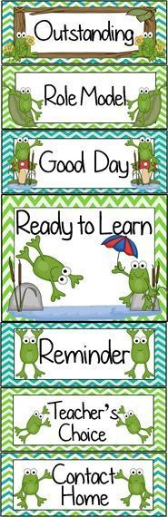 Frog Pond Themed Behavior Clip Chart ~ Classroom Management Tool