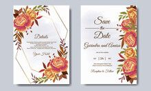 Sell stock photos, videos, vectors online | Adobe Stock Contributor Wedding Invitation Card Template, Beautiful Wedding Invitations, Save The Date Invitations, Watercolor Wedding Invitations, Wedding Invitation Templates, Wedding Frames, Wedding Cards, Pastel Wedding Stationery, Leaves
