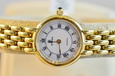 Ladies 14k Yellow Gold Plated Cyma Watch