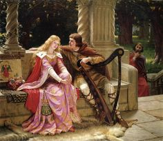 Tristan and Iseult by Edmund Blair Leighton (1853-1922)