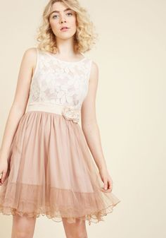 Home Sweet Scone A-Line Dress in Cappuccino