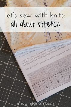 let's sew with knits: all about stretch! includes printable measuring guide || imagine gnats