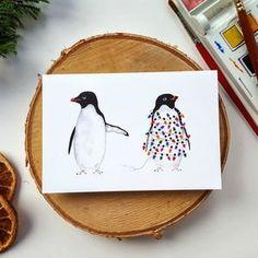 Festive Penguins Christmas Cards