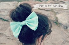 Big Mint Hair Bow on Etsy, $3.99