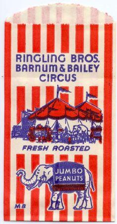 elephant peanut bag | Ringling Brothers Barnum & Bailey