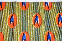 Fashion Bird Pattern African Block Wax Dutch by ZabbaDesigns