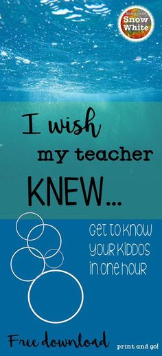"This ""I wish my teacher knew"" exercise is the most invaluable thing you will ever do for your students. Perfect for back to school. Downloadable freebies. Just print and go!"