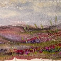 """Lynn Comley👩🏻🎨 shared a post on Instagram: """"Inspired by my walk on the North York Moors last week and with much anticipation for the Ling…"""" • Follow their account to see 655 posts. Mixed Media Artists, North Yorkshire, Textile Artists, Posts, Inspired, Landscape, Inspiration, Instagram, Biblical Inspiration"""