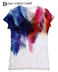 woman  Brush  print  top t shirt 2xs  plus size by by hellominky, $28.95