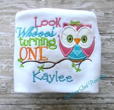 Owl Birthday Shirt Look Whoos Turning One with by SouthernSleek, $21.00