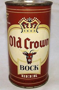 OLD CROWN Bock Beer , Ft Wayne IN <> 1958 Vintage Packaging, Vintage Labels, Whiskey Mixed Drinks, Beer Can Collection, Old Beer Cans, Beer Brands, Best Beer, Package Design, Tins