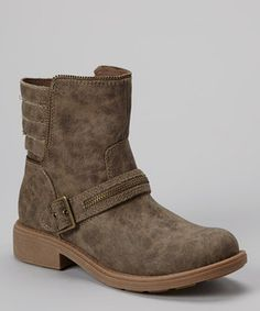 Look at this #zulilyfind! Stone Crispina Boot by Yellow Box Shoes #zulilyfinds