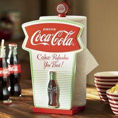 Retro Coke Paper Towel Holder