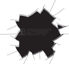 Loch in der Wand Vektor illustration Stockfoto