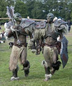 Larp orcs. Is it weird that I find this mildly attractive? Someone take me larping!