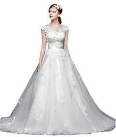 Ikerenwedding Women's Handmade Lace Flowers Wedding Dress Bride Gown WT US04 Ikerenwedding http://www.amazon.com/dp/B00Z09SFE4/ref=cm_sw_r_pi_dp_WG.Evb0BCAEAA