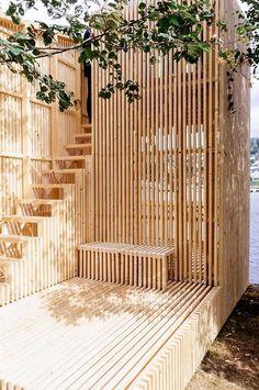 sunflowersandsearchinghearts:  Warm Wooden Terrace via...