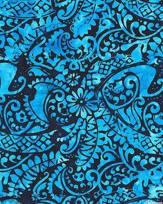 Bali Bliss - Dreamy Floral Melodies Batik - Turquoise