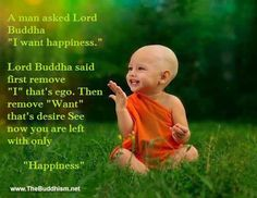 """No """"I"""" or """"want"""" = happiness"""