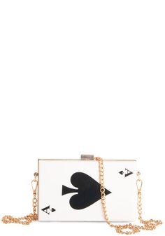 Heres the Deal Clutch. Whats on deck for tonight? #gold #prom #modcloth