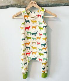 Organic Baby Harem Romper Organic Baby by TheTailoredBabyShop