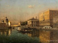 Antoine Bouvard (1870 - 1956) View of the Basin of San Marco Oil on canvas 23 3/4 x 32 inches Signed Marc Aldine