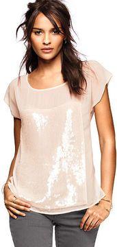 Sequin Short-sleeve Tee on shopstyle.com