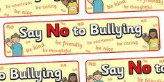 Say No to Bullying Display Banner