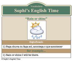 Vocabulário: Rain or shine
