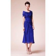 Sweetheart Tea-length Sheath/Column Mother Bride Dress