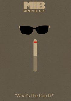 "Poster minimalista ""Homens de preto"" by Jamie Bolton"