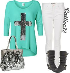 """Cross shirt"" by callico32 on Polyvore"