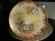 GORGEOUS ANTIQUE LIMOGES RELATED MZ ALTROHLAU CZECHOSLOVAKIA PLATE ARTIST SIGNED