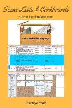 Author Toolbox: Scene Lists and Corkboards | M. C. Frye
