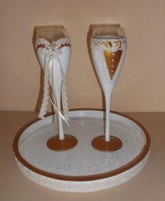 σετ 2 ποτηρια σαμπανιας κρακελε Flute, Champagne, Tableware, Dinnerware, Tablewares, Flutes, Dishes, Tin Whistle, Place Settings