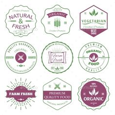 Labels and Badges #jpg #image #nature #cutlery • Available here → https://graphicriver.net/item/labels-and-badges/9981093?ref=pxcr