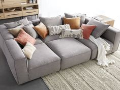 Coburn Six Piece Pit Sectional | Arhaus Pit Couch, Pit Sectional, Comfy Sectional, Leather Sectional Sofas, Family Room Sectional, Spacious Living Room, Home Living Room, Living Room Furniture, Living Room Decor