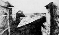 """Joseph Nicéphore Niépce's """"View from the Window at Le Gras"""" (1826), The worlds oldest photograph."""